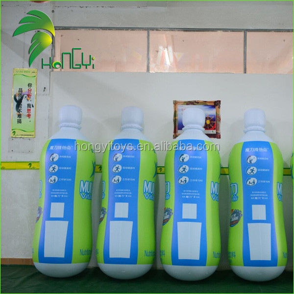Factory Price Inflatable Beverage Bottle Model Shape , Water Bottle Replica For Advertising