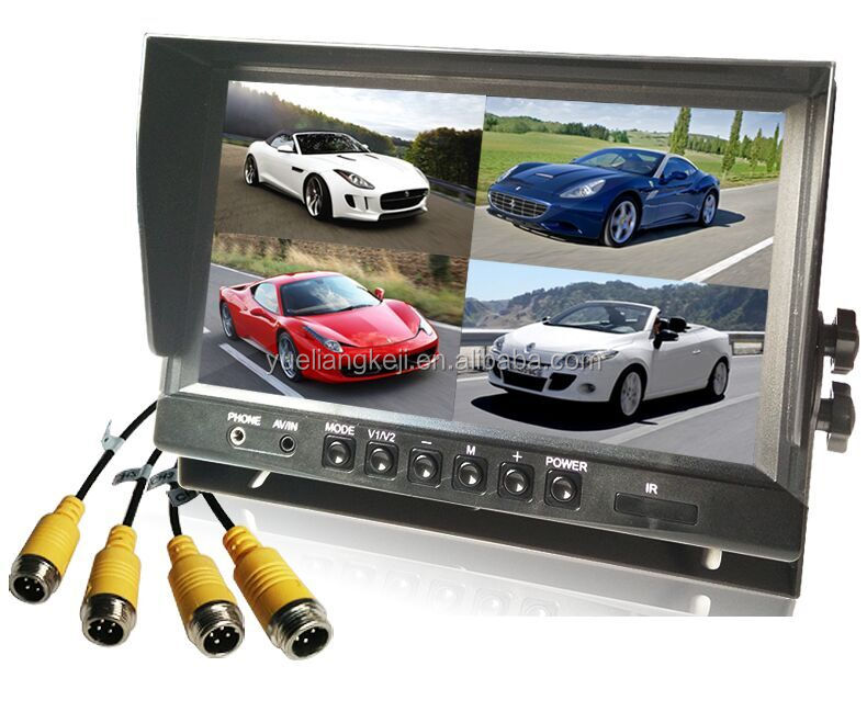 High definition car sun visor monitor with 4-channel video monitor fashionable design(16:9)