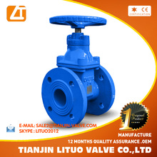 GOST cast iron/ductile iron chain wheel gate valve Tianjin Supply