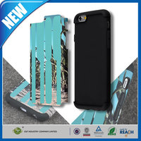 C&T Mix Color Slim Hybrid Dual Layer Shockproof Silicone Case For Iphone 6