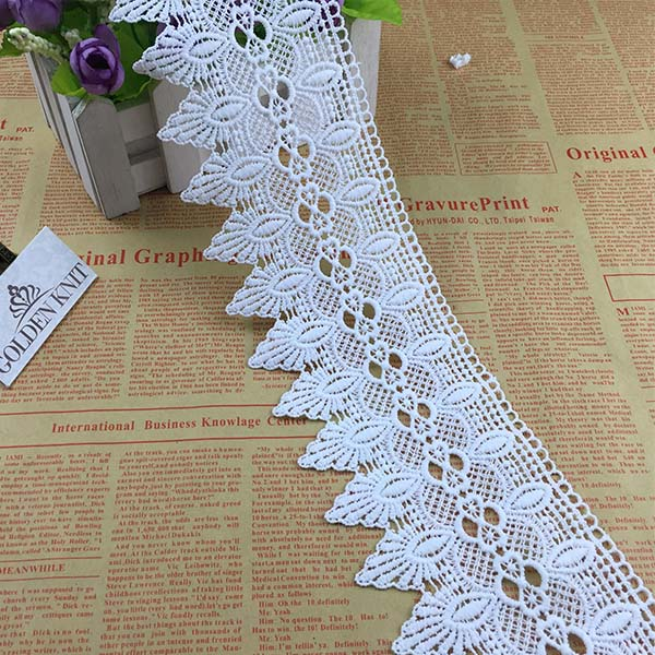 9cm Width Embriodery Chemical Lace Trim for Lady Garment