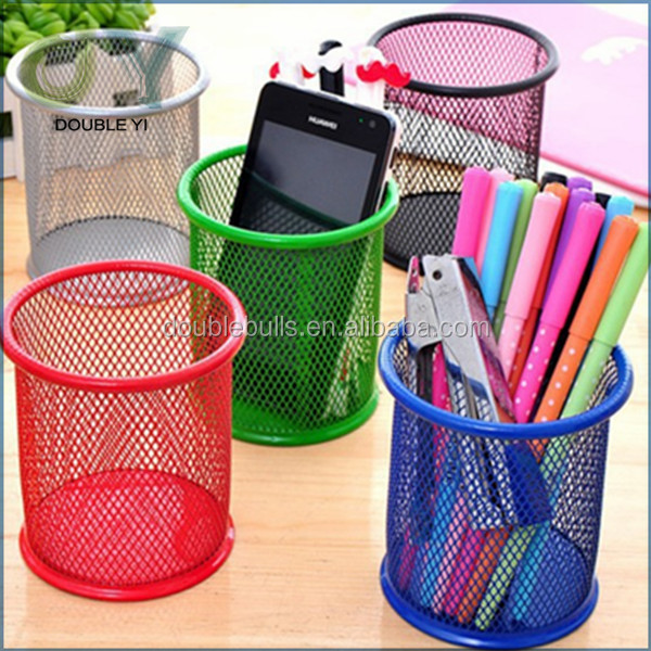 Top quality metal pen stand / pen container / pencil holder