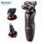 Kemei KM6183 Washable 5 Heads Electric Rechargeable Shaver 3 in 1 Shaver & Trimmer