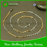 Fashion high quality 316 stainless steel chain necklace in roll to make jewelry D3-0137