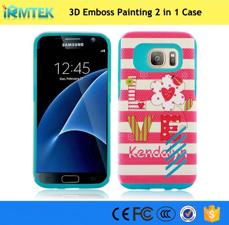 New Custom Design 3D Relief Painting PC + Silicone Print Cell Phone Case