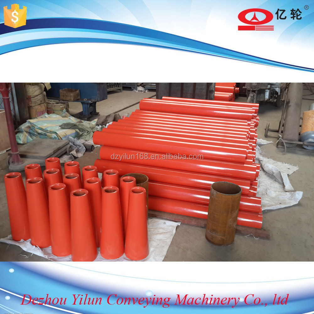 Single or Double Grooves Belt Pipe Conveyor Rollers Belt Roller