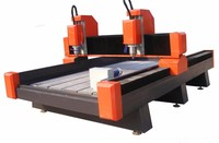 sculpture granite marble water cutting cnc router stone cnc lathe (1300*1800*300mm) with two spindles