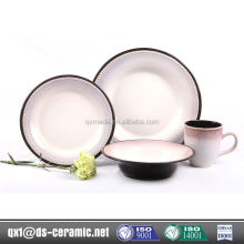 China new design popular stoneware white ceramic dinnerware