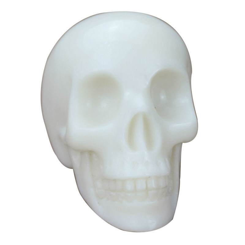 "2"" Wholesale top quality crystal white jade skull carving"