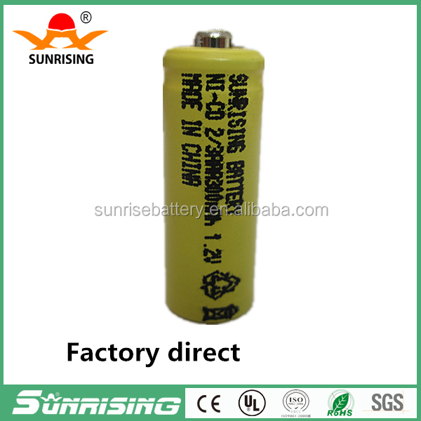 Sunrise NI-CD rechargeable battery 1.2V 300mah 2/3AAA Nickel metal hydride batteries