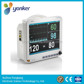 Yonker 15 inch Portable six parameter Patient Monitor ETCO2 optional