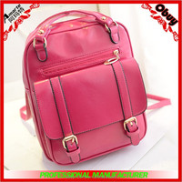 2015 New lastest designer cheap wholesale black England retro pu backpack