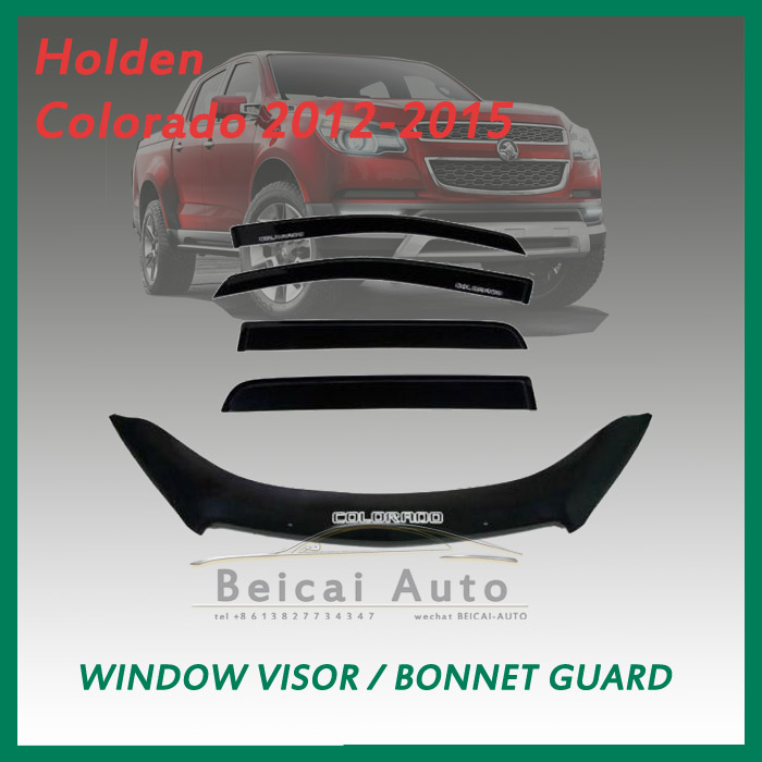Bonnet Protector & Window Visors for Holden Colorado 2012-2015
