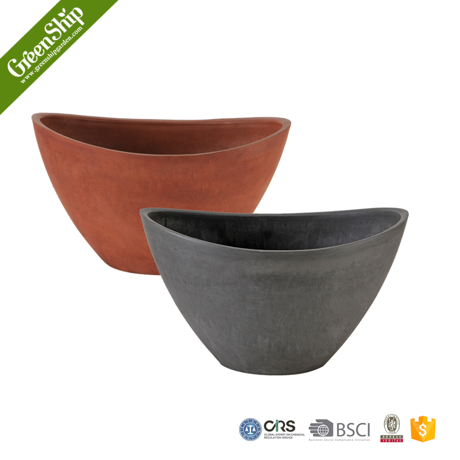 Fashion Type Glazed Clay Flower Pot For Interior Deco