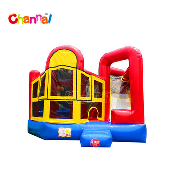5 in 1 jumping house with slide inflatable bouncy castle bouncer castle for kids