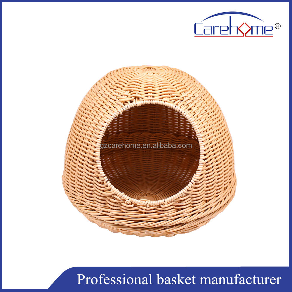 hot sale exquisite modern design indoor plastic rattan pet house basket for cat and dog
