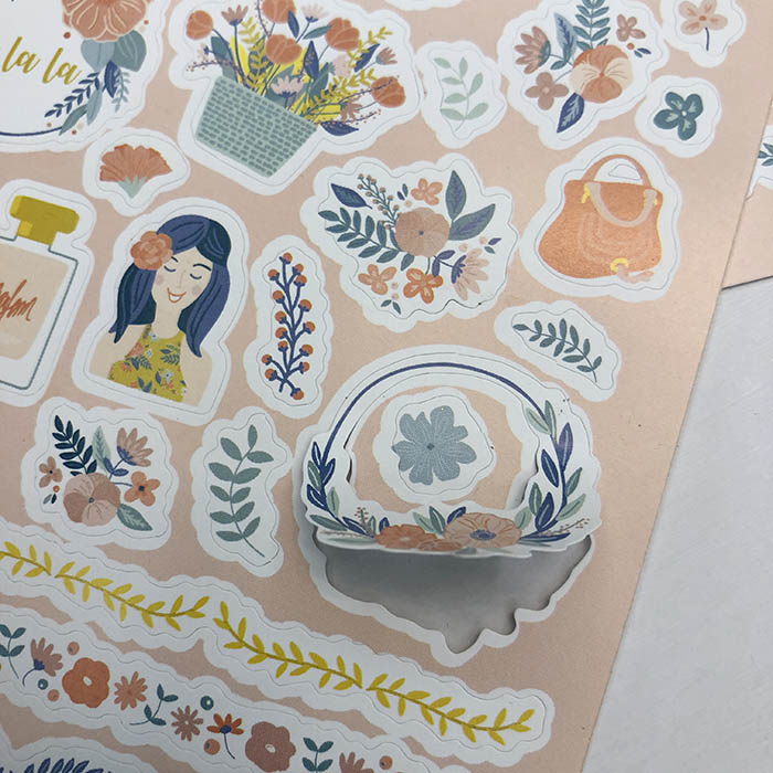 Cheap Factory Price Custom Vinyl  Pvc Clear Printing Sticker Die Cut Sticker