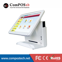 China pos system 15 Inch All In One pos Pc Laptop computer point of sale display pos for restaurant