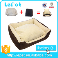 manufacturer wholesale luxury pet dog bed suede pet bed non slip