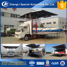 CN Foton Mobile Wing open box Truck with stage 6mx6m 36m3 Full extension LHD RHD Innovation 4x2 Wingspan LED Van vehicle dicount
