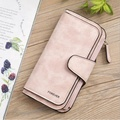 fashion sanded PU leather multifunctional long - style wallet