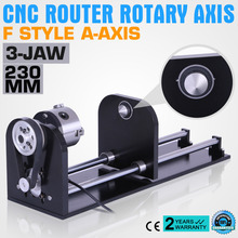 CNC ROUTER ACCESSORY F STYLE A-AXIS, ROTARY AXIS WITH 80MM 3-JAW 230MM TRACK