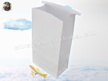 white color rectangle bottom air/ship/train sickness bag