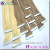 Double Drawn Human Hair Extension peruvian virgin hair tape hair extension wholesale Alibaba