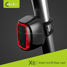 e-bike rechargeable bike tail light Meilan X6 usb led cycle light bicycle accessories best warning safe lighting