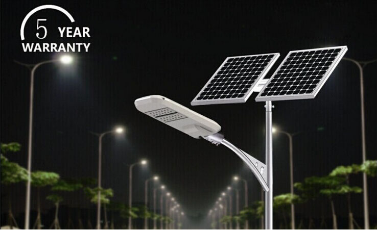 UL DLC List High Power 60w 80w 100w 200w All In One Led Solar Street Light Parking Lot Lighting Industrial Outdoor Lamp