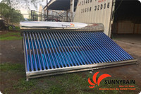 300liters Stainless Steel Vacuum Tubes Solar Water Heater System for Mexico