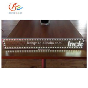 Easy operation design P10 DIP single color table led board programmableText/figures/Graphics led moving message display