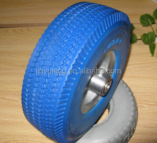 10x350-4 Launching pu wheels for inflatable boat/ traliler wheels