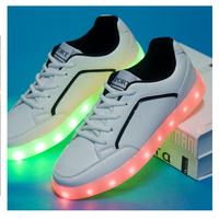led scarpe uomo,lace led sole middle night couple light up shoes