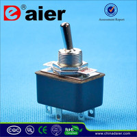 KN3-3 ON-ON 2A 250VAC DPDT E-ten Toggle Switch