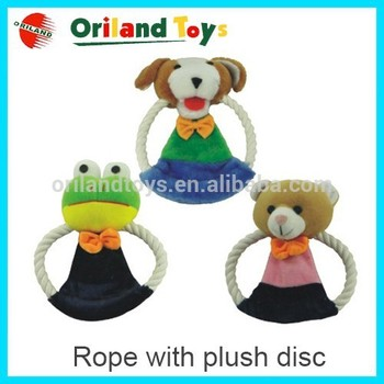 NEW Promotional custom plush rope pet toy, cut animal toy