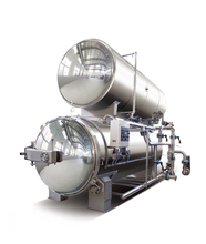 Automatic double layers hot water immersion autoclave autoclave