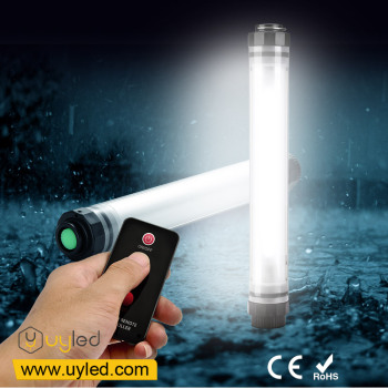 UYLED Q7IR IP68 Waterproof LED Light with Remote Control, 3 Levels Brightness, Strobe Mode, Power Bank for Tent, Bivvy, Garden