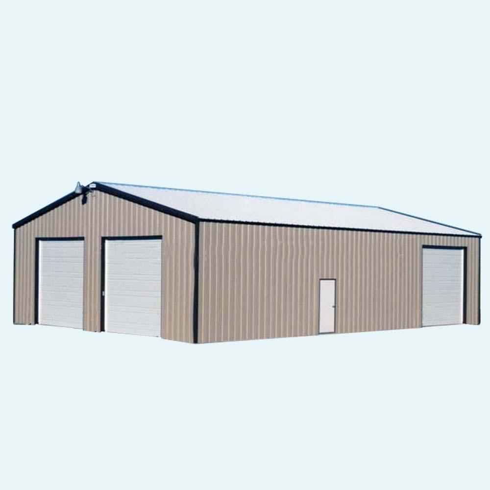 Simple low cost steel garagecheap garage with garage low cost for Low cost garage