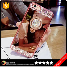 Ultra Thin Slim Soft TPU Crystal Rhinestone Sparkle Glitter Bling Diamond Mirror Cover Case For iPhone 7 Plus