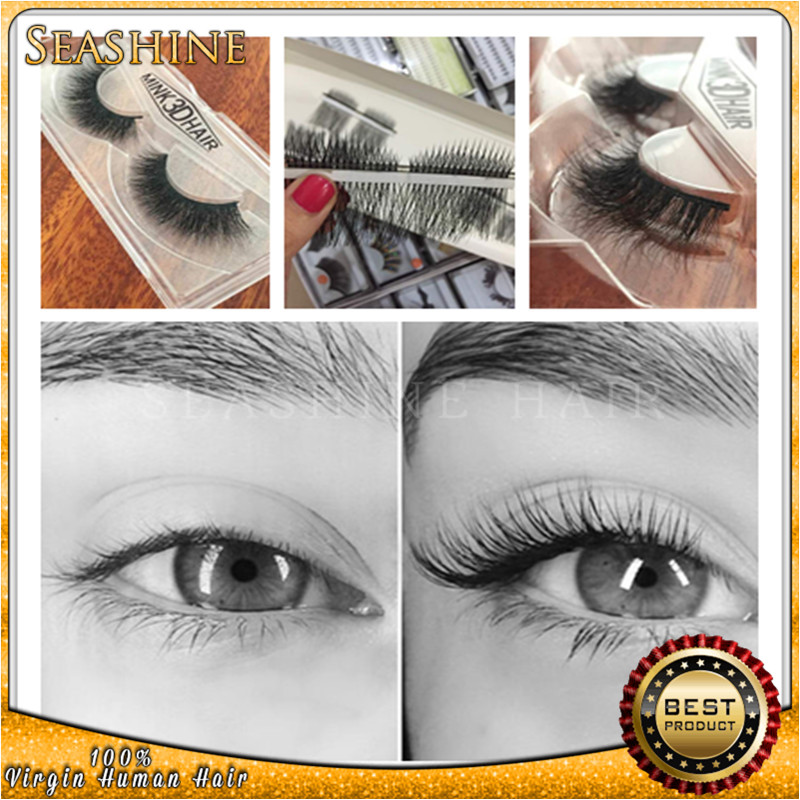 Newest Handmade Eyelashes Natural Long Strip 3D Mink Soft Fake Eye Lashes Eyelash Makeup Extensions