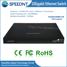 Speednt Managed Network Switches 2*10/100/1000M router 10g 8 port sfp managed layer 3 switch