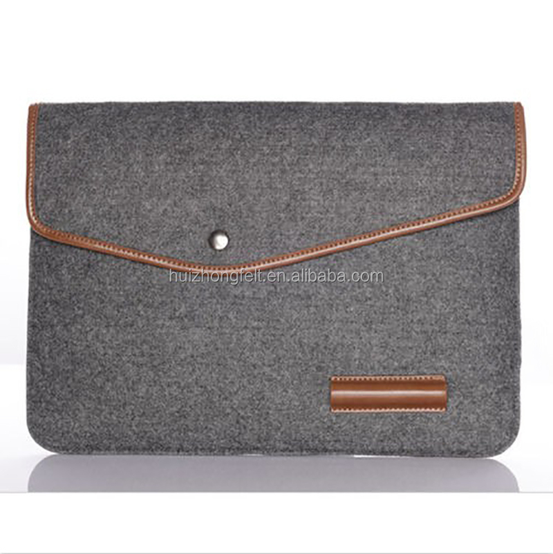 custom printed light weight felt laptop sleeve leather case 14 inch business office laptop/computer/tablet sleeve bag