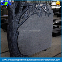 Hot Sale Natural G633 Polished Tree Carving Tombstone & Headstone