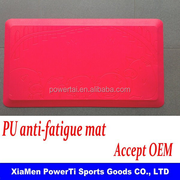 PU anti fatigue kitchen floor mat