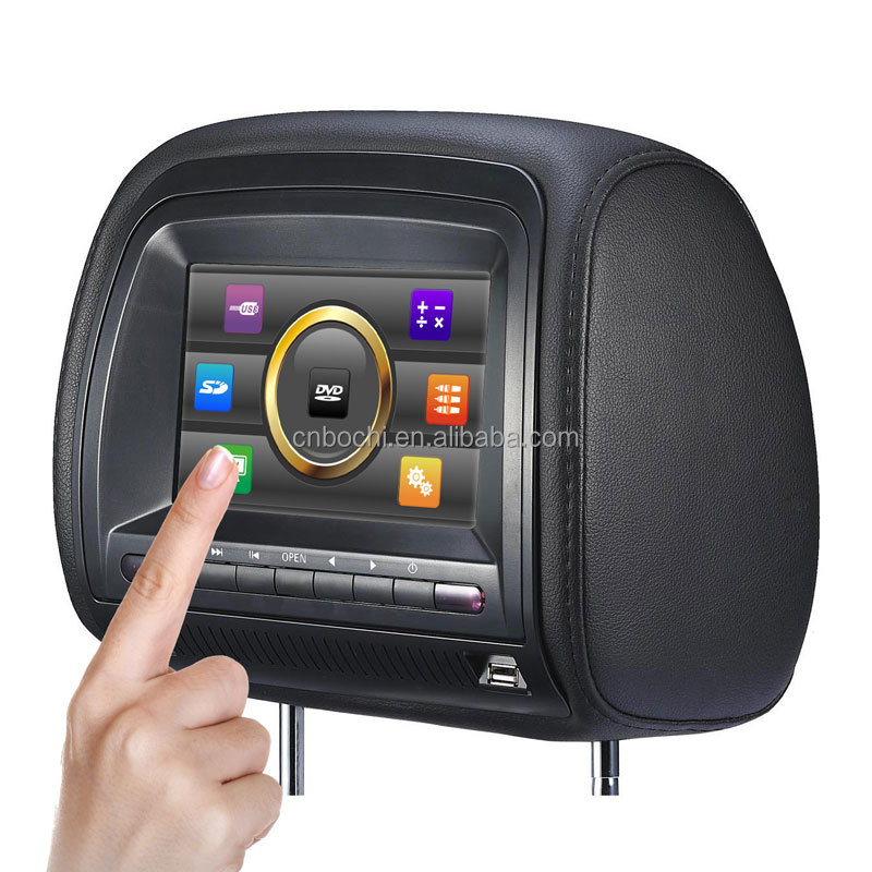 7-inch digital TFT LCD screen new panel Car headrest dvd player with Headphone Jack