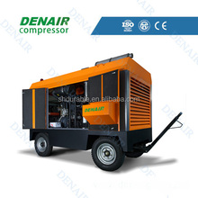 Diesel driven portable screw air compressor for mining