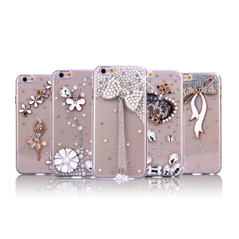 Hot selling bling bling diamond crystal phone case mobile cover for Iphone 5 5S, case for iphone 6