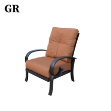 Professional Elegant Luxury Outdoor Hotel Garden Furniture Aluminum Tube Club Chair