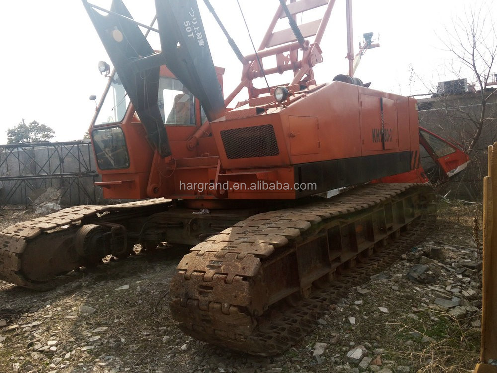 Secondhand hitachi crawler crane 50 ton, used hitachi crawler crane 50ton for sale!
